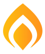 Flame to represent natural gas