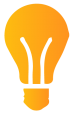 Lightbulb to represent electricity